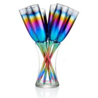 Artland® Rainbow Toasting Champagne Flutes (Set of 7)