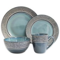 American Atelier Mosaic 16-Piece Dinnerware Set in Blue