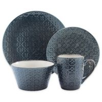 American Atelier Galena 16-Piece Dinnerware Set in Blue