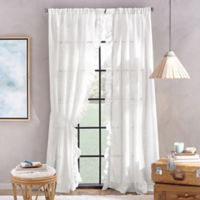 Peri Home Sadie 84-Inch Pole Top Window Curtain Panel in White