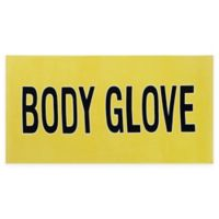 Body Glove Throwback Surfboard Beach Towel in Yellow