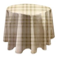 Reeve Plaid 70-Inch Round Vinyl Tablecloth in Grey