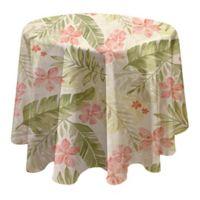 Tropics 70-Inch Round Vinyl Tablecloth