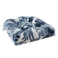 Madison Park Everett Indoor/Outdoor Square Seat Cushion in Indigo