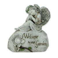 Northlight 10-Inch Peaceful Angel LED Garden Statue