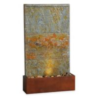 Kenroy Home Stream Indoor/Outdoor Floor Fountain in Slate and Copper with Pump
