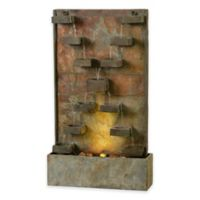 Kenroy Home Voyage LED Floor Fountain in Slate with Pump