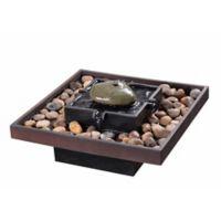 Kenroy Home Zen Indoor Table Fountain in Dark Bronze with Pump