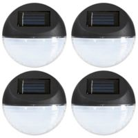 Pure Garden 4-Count LED Solar Lights in Black