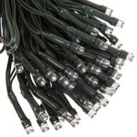 Pure Garden 100-Bulb Solar LED String Lights in Black