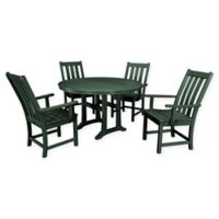 POLYWOOD® Vineyard 5-Piece Nautical Trestle Patio Dining Set in Green
