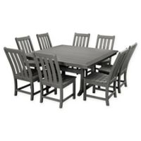 POLYWOOD® Vineyard 9-Piece Patio Dining Set in Slate Grey