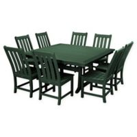 POLYWOOD® Vineyard 9-Piece Patio Dining Set in Green