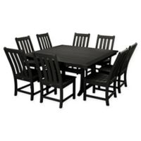 POLYWOOD® Vineyard 9-Piece Patio Dining Set in Black