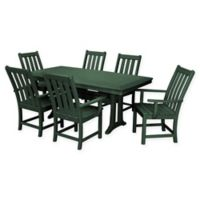 POLYWOOD® Vineyard 7-Piece Patio Dining Set in Green