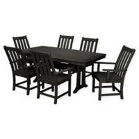 POLYWOOD® Vineyard 7-Piece Patio Dining Set in Black
