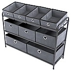 Multi Bin 10-Piece Storage Organizer in Grey