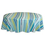 Capri Stripe 70-Inch Round Tablecloth in Aqua