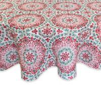 Croscill® Christmas Folk 70-Inch Round Tablecloth