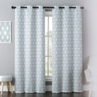 Mystique 84-Inch Grommet Window Curtain Panel Pair in Blue