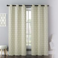 Mystique 84-Inch Grommet Window Curtain Panel Pair in Green