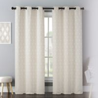Mystique 63-Inch Grommet Window Curtain Panel Pair in Natural