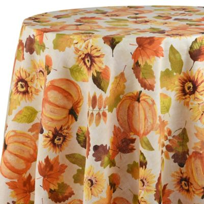 Harvest Medley 70 Inch Round Tablecloth