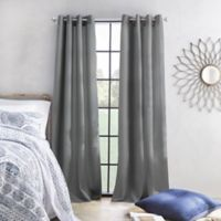 Skylar 95-Inch Grommet Window Curtain Panel in Grey