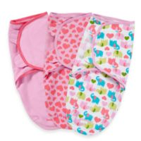 SwaddleMe® Small/Medium 3-Pack Adjustable Blankets in Elephants