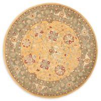 Safavieh Antiquity 3'6 x 3'6 Brielle Rug in Gold