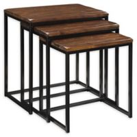 Pike 3-Piece Nesting Tables in Black/Brown