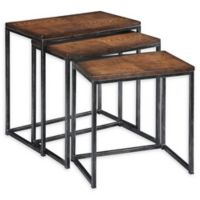 Flower 3-Piece Nesting Tables in Brown