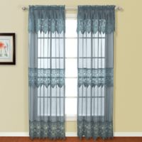 Valerie 84-Inch Rod Pocket Window Curtain Panel Pair in Blue