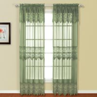 Valerie 84-Inch Rod Pocket Window Curtain Panel Pair in Sage