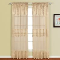 Valerie 63-Inch Rod Pocket Window Curtain Panel Pair in Taupe