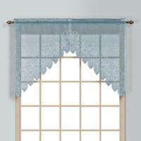 Valerie 38-Inch Rod Pocket Kitchen Window Swag Pair in Blue
