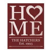 Astra Art Heart Home 11-Inch x 14-Inch Canvas Wall Art in Red