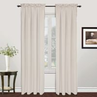 Metro 63-Inch Rod Pocket Window Curtain Panel in Oyster