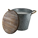 Patio Essentials 155 Oz. Galvanized Bucket Citronella Candle