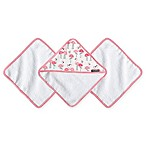 JJ Cole® 3-Pack Pink Flamingo Washcloths