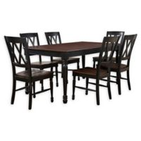 Crosley Shelby 7-Piece Dining Set with Black Finish