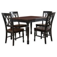 Crosley Shelby 5-Piece Dining Set with Black Finish