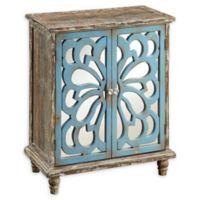 Coast to Coast Prairie 2-Door Cabinet in Brown/Blue
