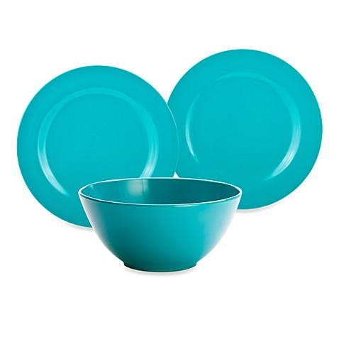 Zak! Designs® Ella Azure Melamine Dinnerware  sc 1 st  Bed Bath \u0026 Beyond & Zak! Designs® Ella Azure Melamine Dinnerware - Bed Bath \u0026 Beyond