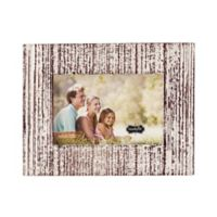Mud Pie Distressed White-Washed Small Wood Picture Frame