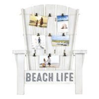 Adirondack Chair Inspired Beach Life 21-Inch x 36.5-Inch Wood Photo Collage Clip Frame