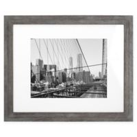Malden® Gallery 11-Inch x 14-Inch Matted Photo Frame in Grey