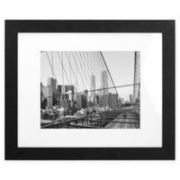 Malden® Gallery 11-Inch x 14-Inch Matted Photo Frame in Black