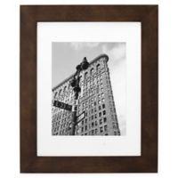 Malden® Gallery 8-Inch x 10-Inch Matted Wood Photo Frame in Walnut