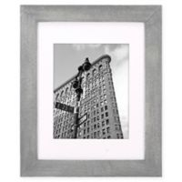 Malden® Gallery 8-Inch x 10-Inch Matted Wood Photo Frame in Grey